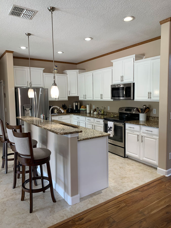 Kitchen cabinet refinish after