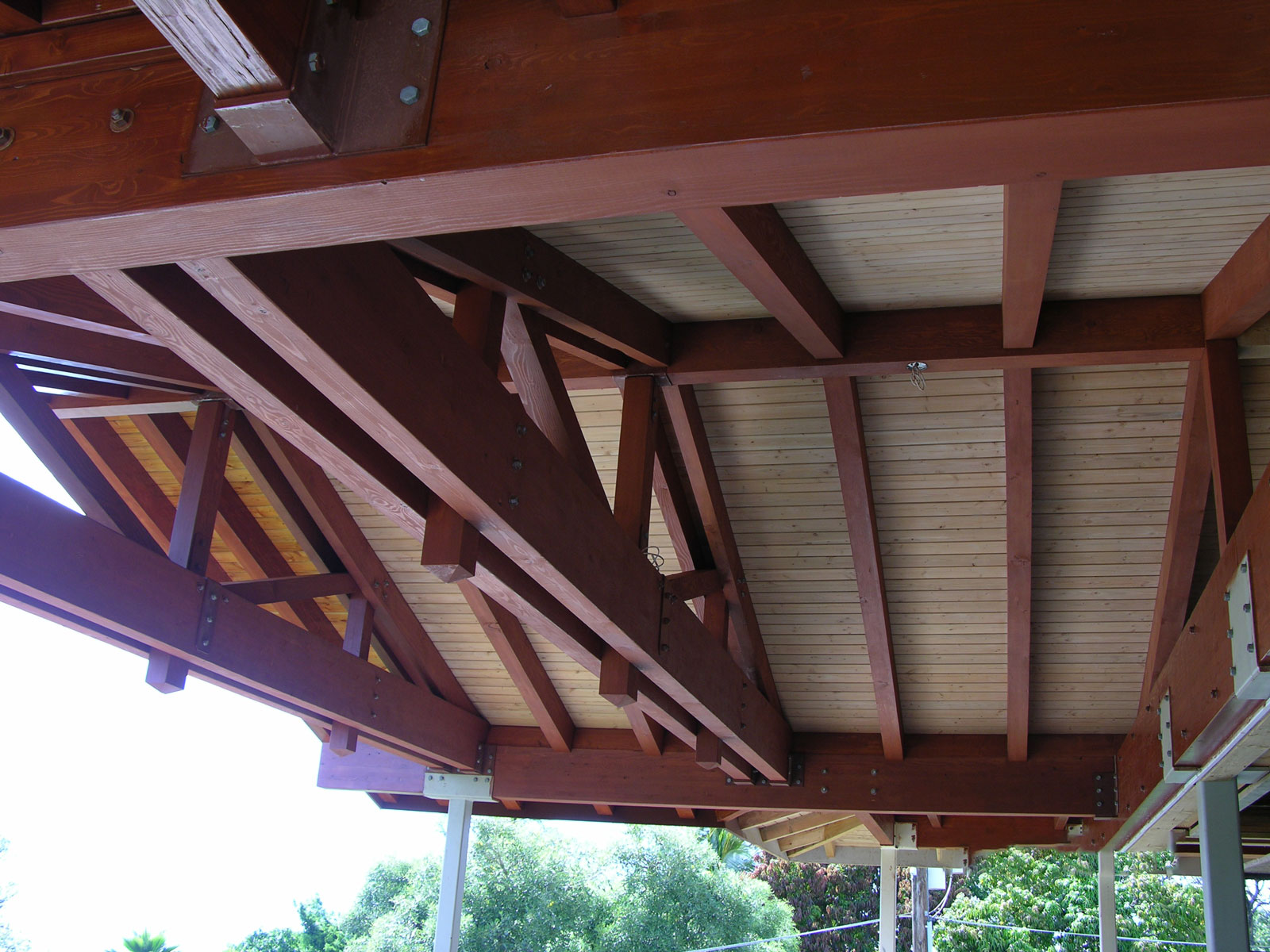 Maui ceiling before lacquer finish