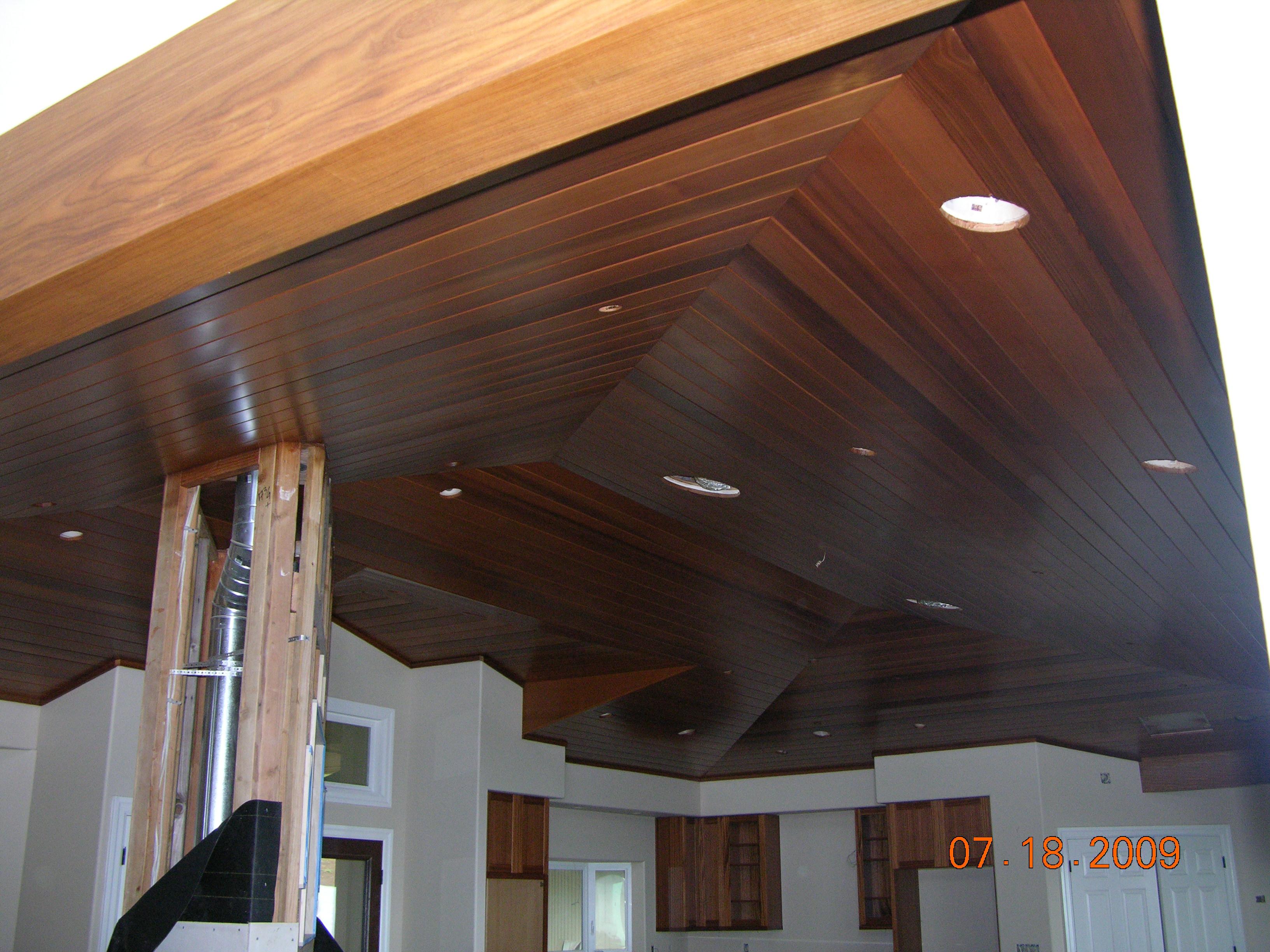 Cedar ceiling in Wailea, Hawaii