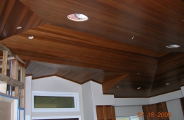 Cedar ceiling in Wailea, Hawaii